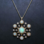 DECORATIVE OPAL BROOCH & PENDANT