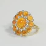 DECORATIVE FIRE OPAL RING