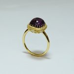 DECORATIVE AMETHYST RING