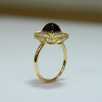DECORATIVE RHODOLITE GARNET RING