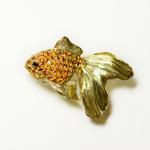 GOLD FISH 2 BROOCH